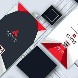 طرح لایه باز کارت ویزیت عمودی شرکتی