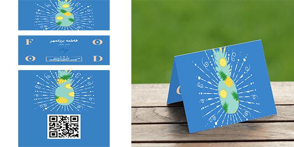 طرح لایه باز کارت ویزیت خلاقانه