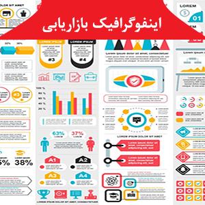 طرح لایه باز اینفوگرافیک بازاریابی