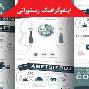 kitchenware infographics 300x300 - طرح لایه باز اینفوگرافیک رستورانی