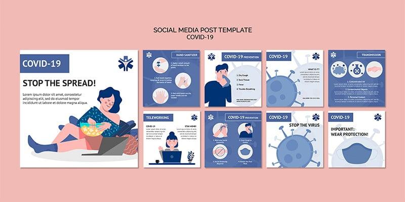 طرح لایه باز پست اینستاگرام توصیه بهداشتی